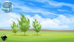 Simple Landscape With Trees In Inkscape