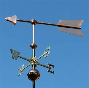 barn arrow weathervane with customization made of copper With barn wind vane
