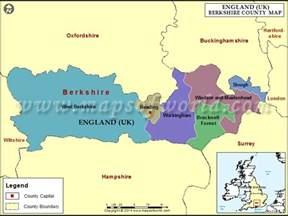 Berkshire County England Map