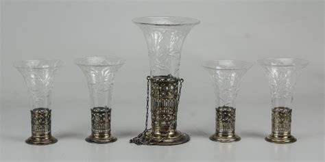 watson sterling etched glass epergne glass glass