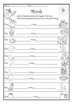 plurals worksheet  worksheetsbycherie teachers pay