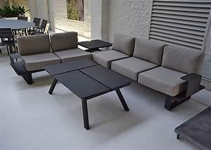 Salon De Jardin Textilene : best salon de jardin en aluminium gris anthracite ideas ~ Dailycaller-alerts.com Idées de Décoration