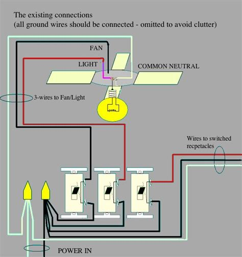 how to wire ceiling fan and light separately ceiling fan wiring diagram fan separate from light 50