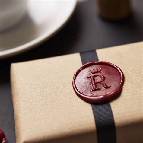 personalised crown monogram wax seal stamp  sophia victoria joy notonthehighstreetcom