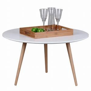 Ikea Kleine Tische : design couchtisch skandi 80 x 80 x 45 cm rund retro look matt lackierter wohnzimmertisch mit ~ Fotosdekora.club Haus und Dekorationen