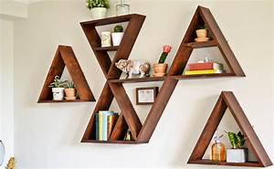 Etagere Murale Triangle : une tag re triangle diy shake my blog ~ Teatrodelosmanantiales.com Idées de Décoration