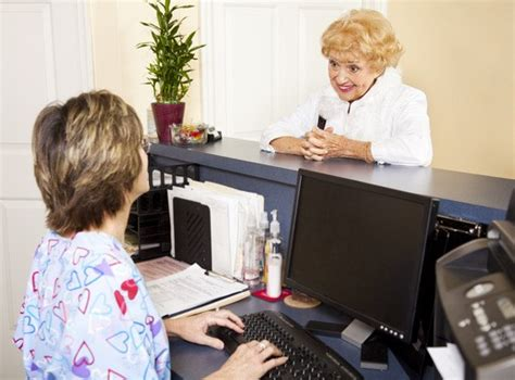 medical receptionist salary healthcare salary world