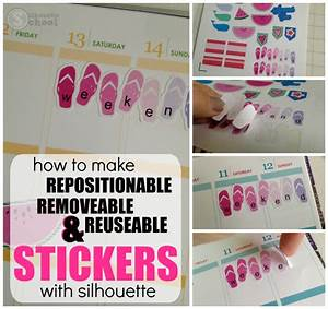 How to make silhouette planner stickers repositionable for How to print your own labels at home