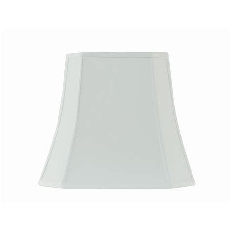 white square l shade rembrandt 16 in w x 14 in h white linen square bell l