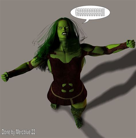 tiffani becomes she hulk 8b by mercblue22 on deviantart