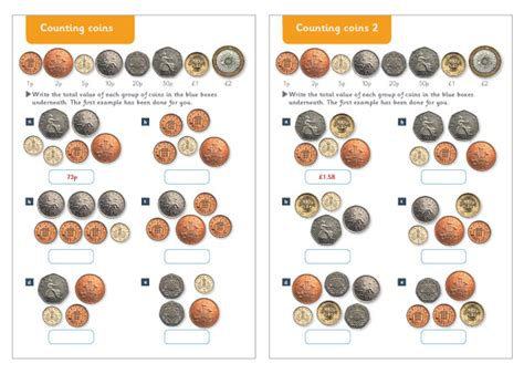 counting coins maths worksheets free early years