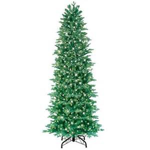 ge 7 5 ft just cut slim aspen fir pre lite artificial christmas tree with clear lights lowe s