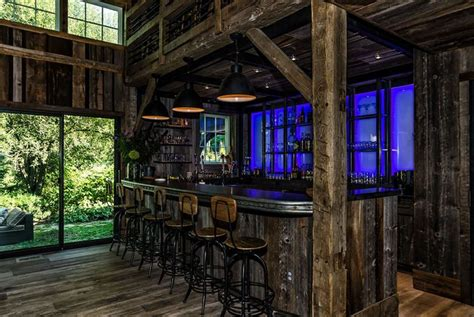 converted barn man cave converted barn backyard makeover man cave home bar