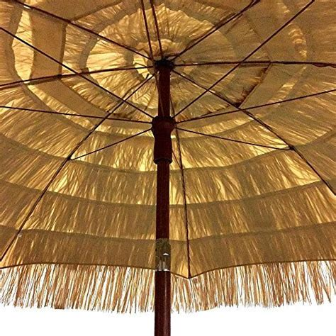 easygo 8 thatch patio umbrella tropical palapa raffia