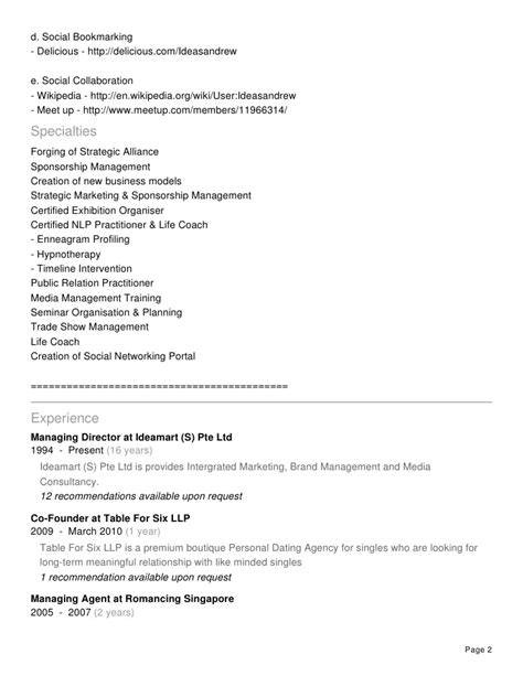 Brand Strategist Resume by Resume Of Andrew Chow The Brand Strategist