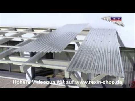 terrassenueberdachung montage lichtplatten youtube