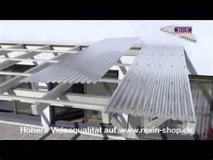 Terrassenuberdachung montage lichtplatten youtube for Terrassenüberdachung montage