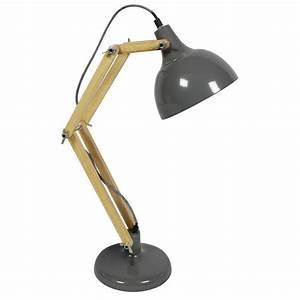 Lampe Bureau Bois : lampe de bureau articul e m tal bois hadar par ~ Teatrodelosmanantiales.com Idées de Décoration