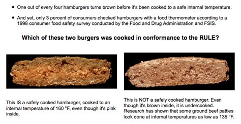 medium burger temp obama orders and eats a medium well burger did it have e coli o157 h7 in it what was the