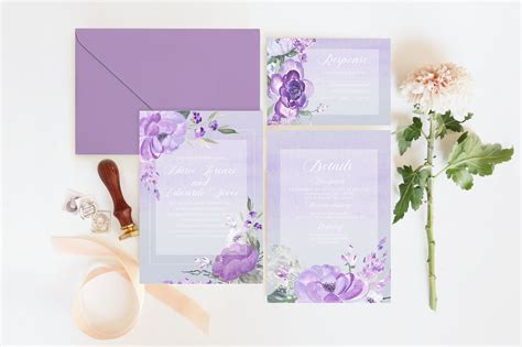 Lovestruck Lilac Collection Wedding Invitation Suite ...