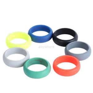 rubber wedding bands mens silicone wedding ring band rubber ring durable waterproof ring ebay