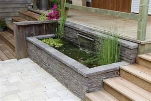 Bassin De Terrasse : am nagement de bassin cascade et lame d 39 eau en eure et ~ Premium-room.com Idées de Décoration