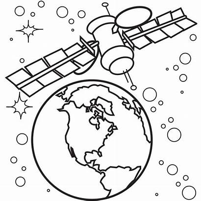 Space Coloring Pages Satellite