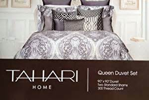 amazon com tahari home grey nedie paisley duvet cover set