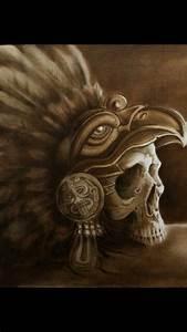 Aztec Eagle Warrior Skull | Skulls & Skeletons | Pinterest ...