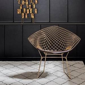 Bertoia Diamond Chair : knoll 18k gold plated vintage classics bertoia and platner ~ A.2002-acura-tl-radio.info Haus und Dekorationen