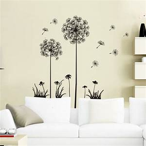 Flowers 3D Wall Sticker 2015 New Dandelion Classical Wall ...