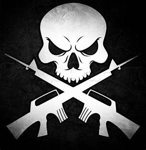 How to Draw Skull and Guns, Step by Step, Skulls, Pop ...
