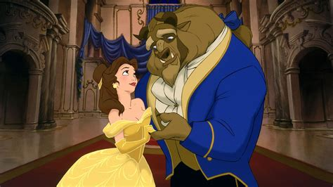 Beauty And The Beast Cartoon Widescreen Background Image