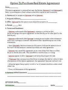 Real Estate Purchase Agreement Contract