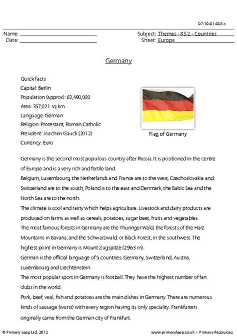 reading comprehension  germany children  read