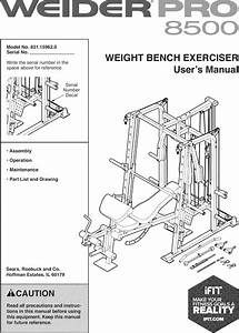 Weider 831159620 1603028l User Manual Pro 8500 Manuals And