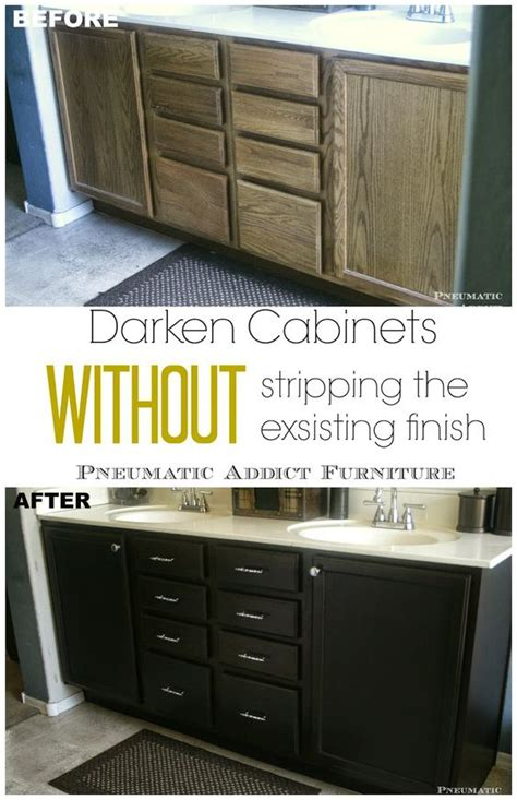 Gel Stain Cabinets Without Sanding by Darken Cabinets Without Stripping The Existing Finish
