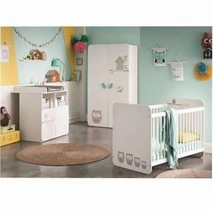 hiboux chambre bebe complete lit armoire commode With chambre bébé design avec chambre de culture complete