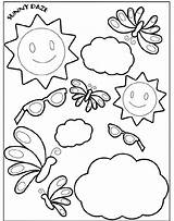 Coloring Crayola Sunny Pages Summer Daze Tool Printable Sheets Winter Print Pattern Spring Days Drawing Friends Dinosaur La Popular Disney sketch template