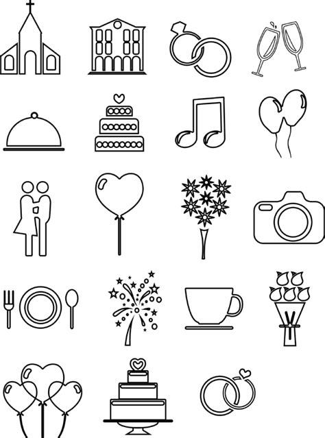 linien hochzeits icons und vorlagen fuer euren ablaufplan