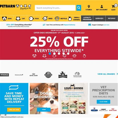 Pet Barn Promo Code by 25 Everything Site Wide Petbarn Excl Vet