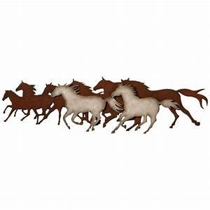 galloping horses metal wall art With horse wall art