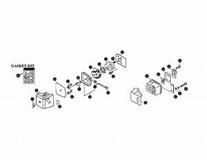 Air Cleaner  Muffler  Throttle Diagram  U0026 Parts List For