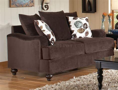 bella chocolate fabric living room sofa loveseat set