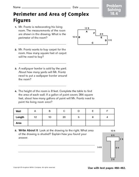 perimeter and area of complex figures problem solving 18 4