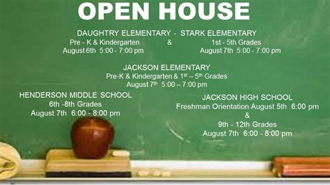 daughtry elementary open house