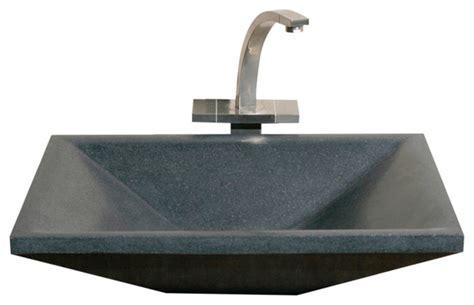 Bathroom Rectangular Sinks by Shop Houzz The Allstone Vessel Sink Rectangular