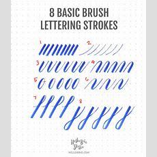 Intro To Brush Lettering Basic Strokes  Hello Brio Studio