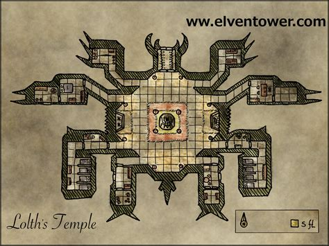 map  lolths temple elven tower