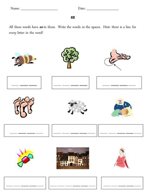 ee phoneme grapheme worksheets  misspope teaching
